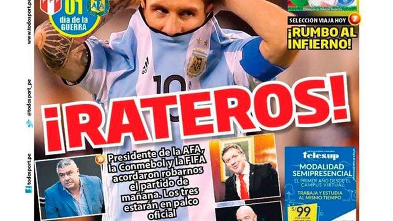 La prensa peruana denuncia que el partido ante argentina for Chimentos de hoy en argentina