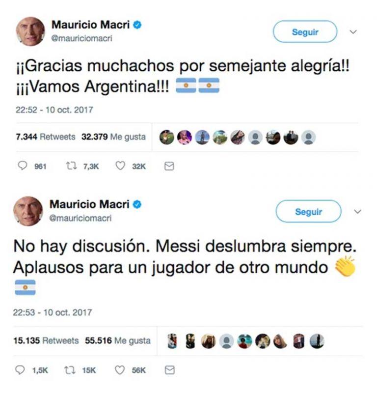 Macri celebró la clasificación al Mundial