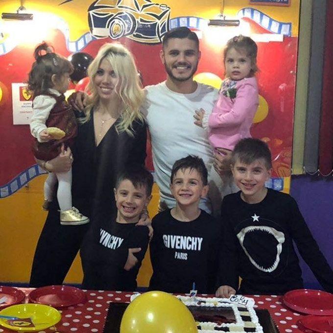¿Hicieron las paces? Wanda Nara, Mauro Icardi y Maxi López juntos