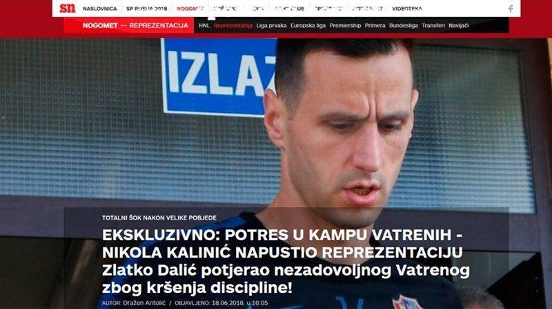 ¿Por qué Croacia expulsará a uno de sus jugadores de la concentración?