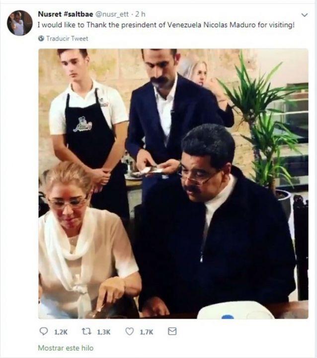 Captaron a Nicolás Maduro en lujoso restaurante de Turquia