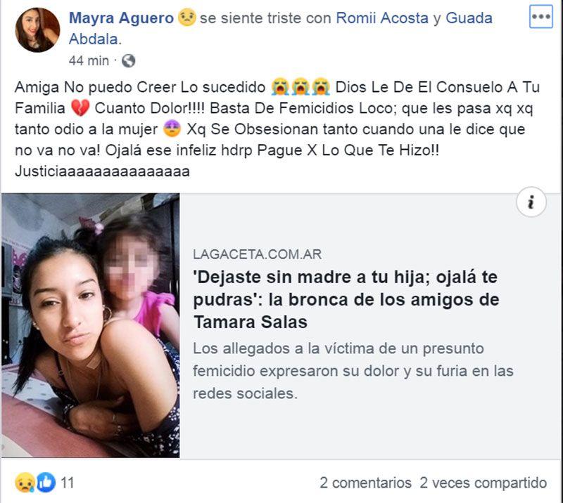 """La bronca de los amigos de Tamara Salas: """"Dejaste sin madre a tu hija, ojalá te pudras"""" 4"""