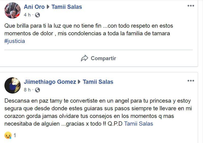 """La bronca de los amigos de Tamara Salas: """"Dejaste sin madre a tu hija, ojalá te pudras"""" 5"""