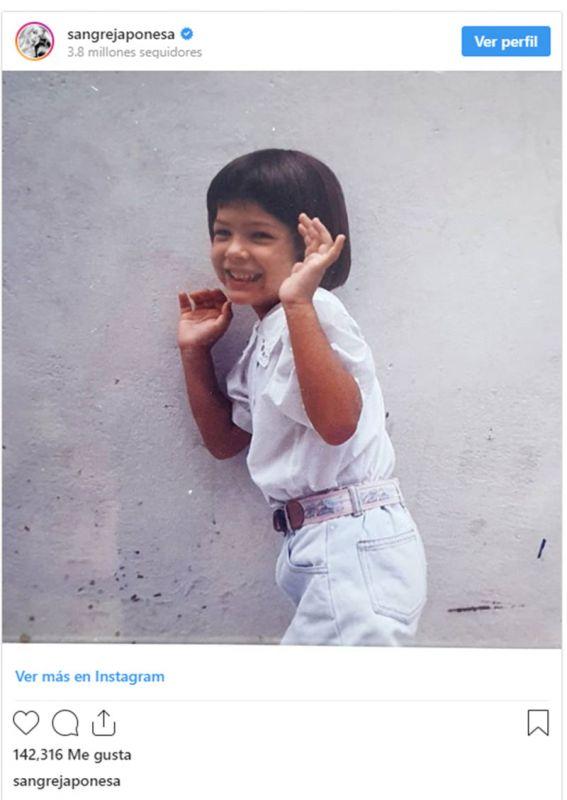 La foto retro de La China Suárez, igual a su hija Rufina