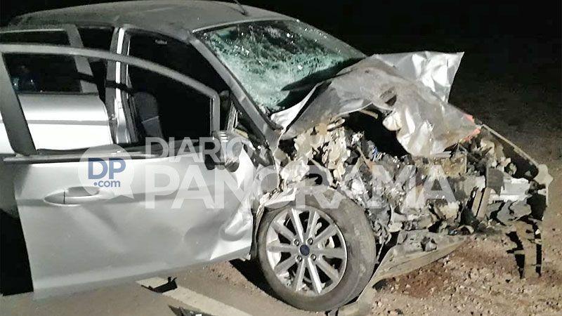 Accidente choque frontal ruta 5