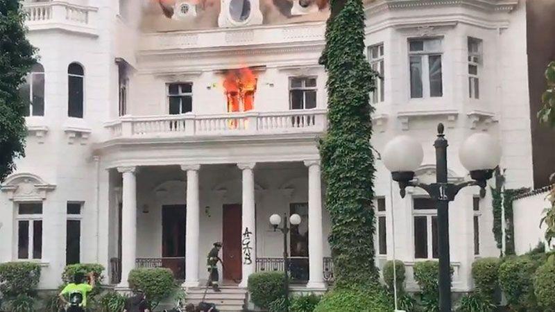 Incendio universidad Pedro Valdivia