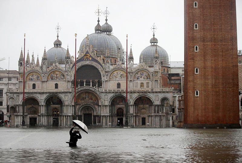 Venecia, en emergencia por histórica marea alta