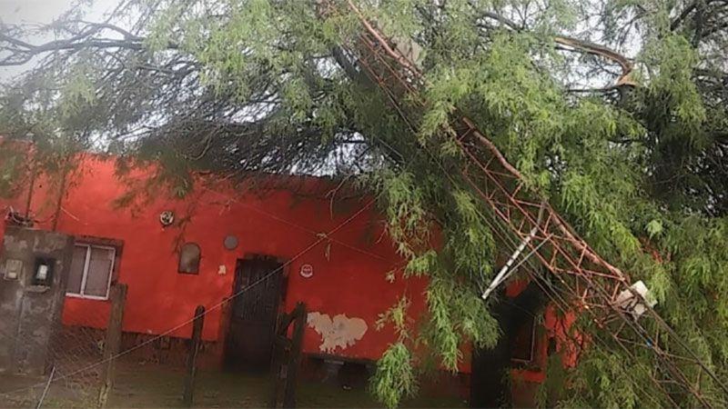 La caída de granizo provocó numerosos destrozos en Tacañitas