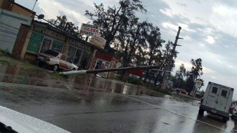 Santiago y La Banda sufrieron el temporal de esta tarde