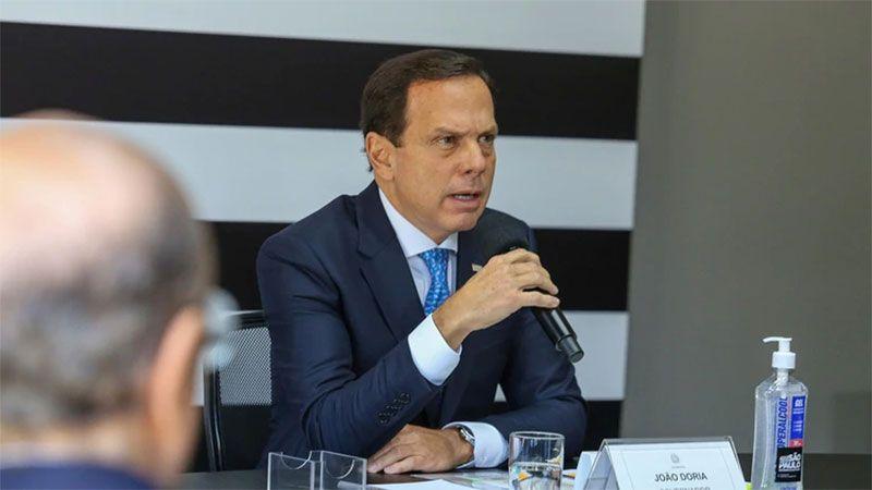 El gobernador de San Pablo, Joao Doria.