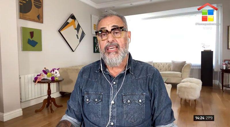 Jorge Rial, al aire desde su casa