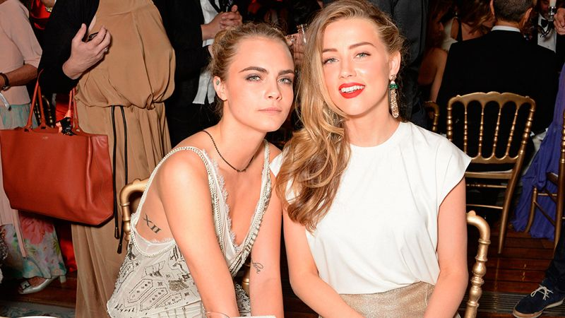Amber heard and Cara Delevingne