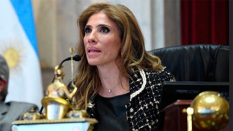 Claudia Ledesma Abdala de Zamora presidió la sesión del Congreso.