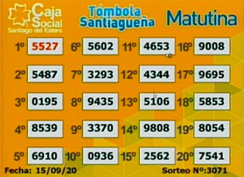 Los resultados del sorteo matutino del martes 15 de septiembre.