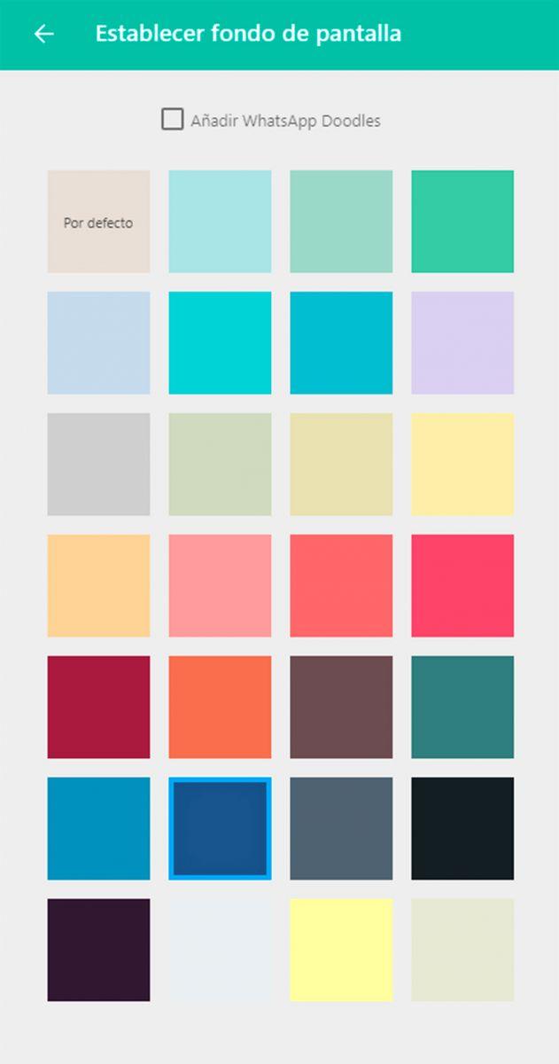 WhatsApp Web colores