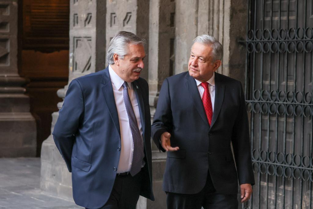 Alberto Fernández y López Obrador.