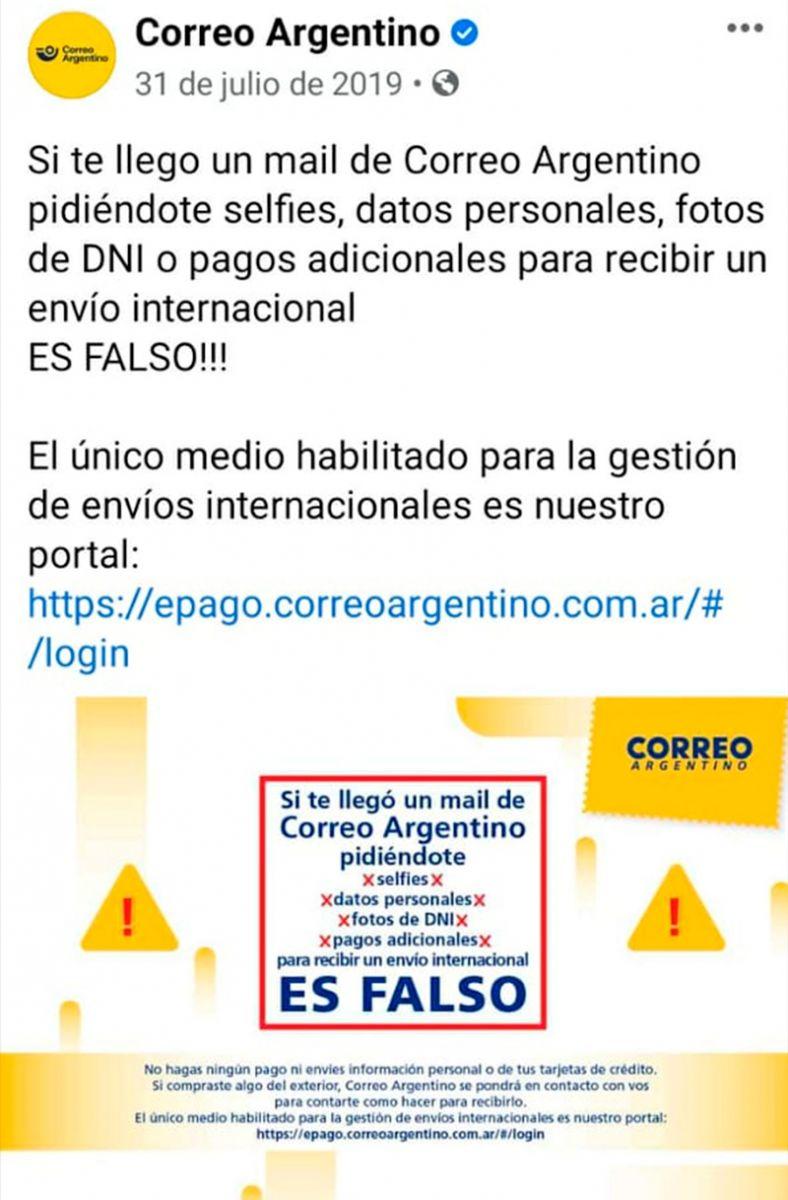 Le dijeron que eran del Correo Argentino y que debía depositar plata:  alerta por nuevas modalidades de estafa virtual - Diario Panorama Movil