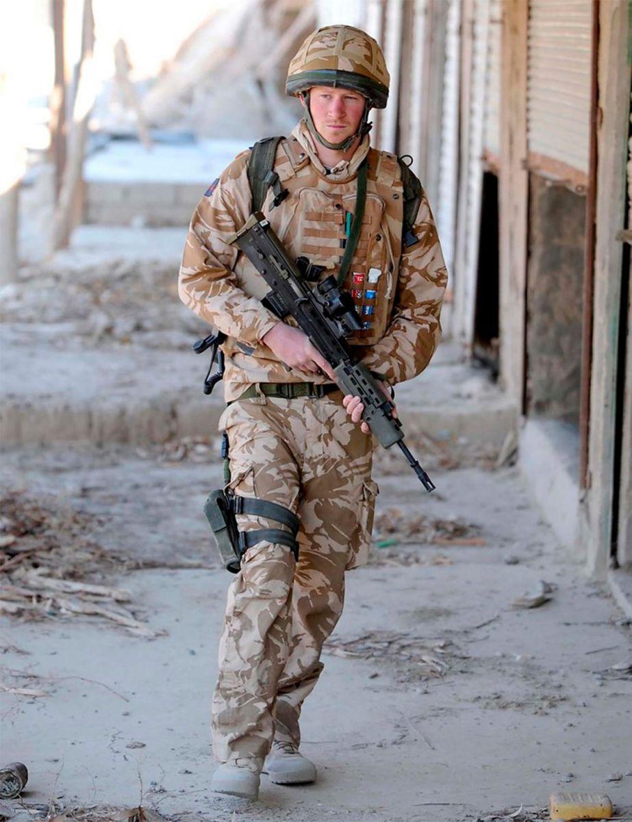 El príncipe Harry de patrulla por la provincia de Helmand, Afganistán